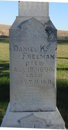 FREEMAN, DANIEL K. - Woodbury County, Iowa | DANIEL K. FREEMAN