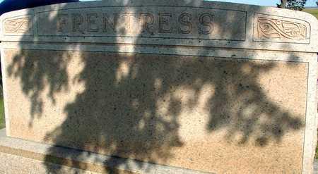 FRENTRESS, FAMILY MARKER - Woodbury County, Iowa | FAMILY MARKER FRENTRESS