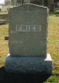FRIES, ANNA M. - Woodbury County, Iowa   ANNA M. FRIES