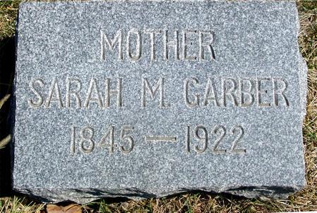 GARBER, SARAH M. - Woodbury County, Iowa   SARAH M. GARBER