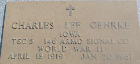 GEHRKE, CHARLES LEE - Woodbury County, Iowa   CHARLES LEE GEHRKE