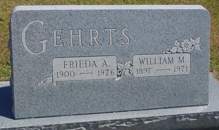 GEHRTS, WILLIAM & FRIEDA - Woodbury County, Iowa   WILLIAM & FRIEDA GEHRTS