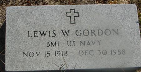 GORDON, LEWIS W. - Woodbury County, Iowa   LEWIS W. GORDON