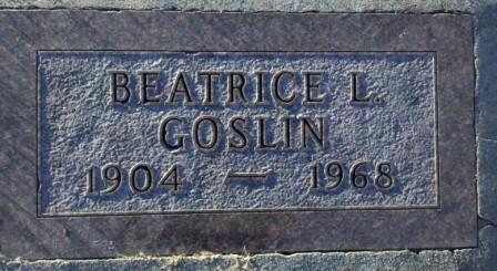 GOSLIN, BEATRICE - Woodbury County, Iowa | BEATRICE GOSLIN