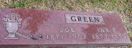 GREEN, JOE & INA - Woodbury County, Iowa   JOE & INA GREEN