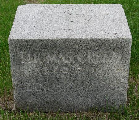GREEN, THOMAS - Woodbury County, Iowa   THOMAS GREEN