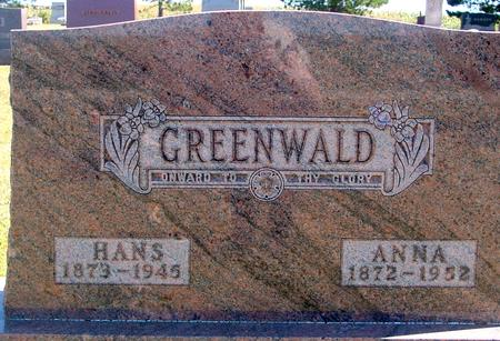 GREENWALD, HANS & ANNA - Woodbury County, Iowa | HANS & ANNA GREENWALD