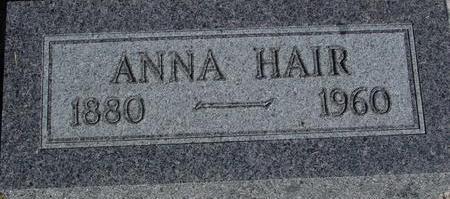 HAIR, ANNA - Woodbury County, Iowa | ANNA HAIR