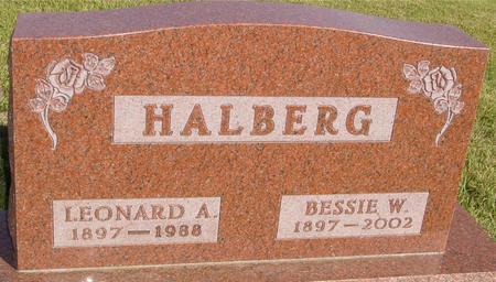 HALBERG, LEONARD & BESSIE - Woodbury County, Iowa | LEONARD & BESSIE HALBERG