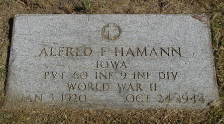 HAMANN, ALFRED F. - Woodbury County, Iowa | ALFRED F. HAMANN