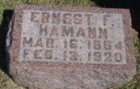 HAMANN, ERNEST F. - Woodbury County, Iowa   ERNEST F. HAMANN