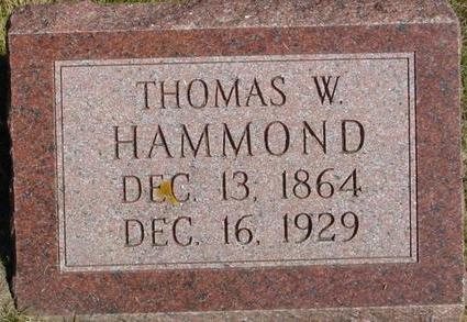 HAMMOND, THOMAS W. - Woodbury County, Iowa | THOMAS W. HAMMOND