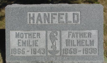 HANFELD, WILHELM & EMILIE - Woodbury County, Iowa | WILHELM & EMILIE HANFELD