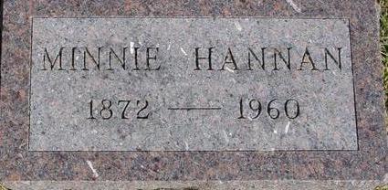 HANNAN, MINNIE - Woodbury County, Iowa | MINNIE HANNAN