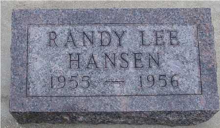 HANSEN, RANDY LEE - Woodbury County, Iowa   RANDY LEE HANSEN