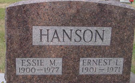 HANSON, ERNEST & ESSIE - Woodbury County, Iowa | ERNEST & ESSIE HANSON