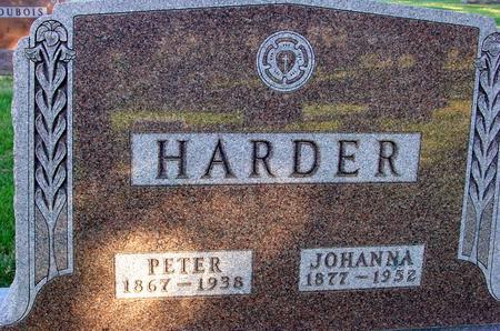 HARDER, PETER & JOHANNA - Woodbury County, Iowa | PETER & JOHANNA HARDER