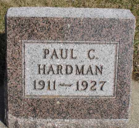 HARDMAN, PAUL C. - Woodbury County, Iowa | PAUL C. HARDMAN