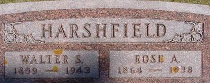 HARSHFIELD, WALTER & ROSE - Woodbury County, Iowa | WALTER & ROSE HARSHFIELD