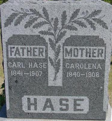 HASE, CARL & CAROLENA - Woodbury County, Iowa   CARL & CAROLENA HASE