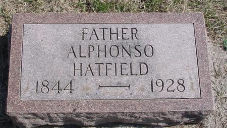 HATFIELD, ALPHONSO - Woodbury County, Iowa   ALPHONSO HATFIELD