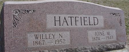 HATFIELD, WILLEY N. & IONE M. - Woodbury County, Iowa | WILLEY N. & IONE M. HATFIELD