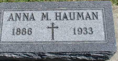 HAUMAN, ANNA M. - Woodbury County, Iowa | ANNA M. HAUMAN