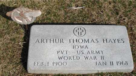 HAYES, ARTHUR THOMAS - Woodbury County, Iowa | ARTHUR THOMAS HAYES