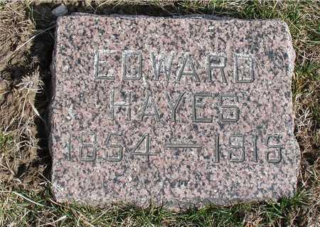 HAYES, EDWARD - Woodbury County, Iowa | EDWARD HAYES