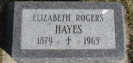 ROGERS HAYES, ELIZABETH - Woodbury County, Iowa   ELIZABETH ROGERS HAYES
