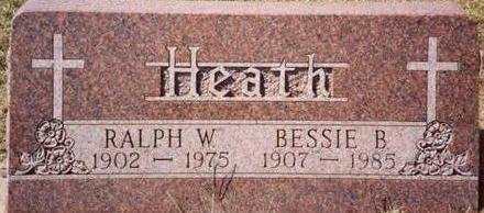 HEATH, RALPH & BESSIE - Woodbury County, Iowa   RALPH & BESSIE HEATH