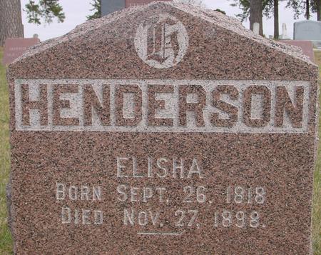 HENDERSON, ELISHA - Woodbury County, Iowa   ELISHA HENDERSON