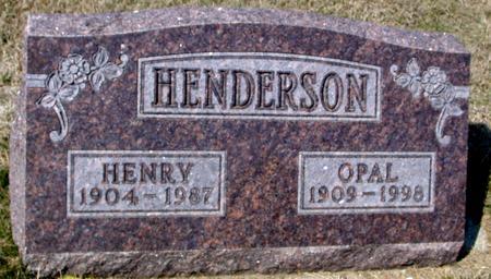 HENDERSON, HENRY & OPAL - Woodbury County, Iowa | HENRY & OPAL HENDERSON