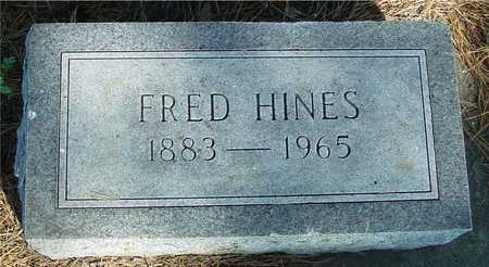 HINES, FRED - Woodbury County, Iowa | FRED HINES