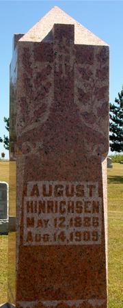 HINRICHSEN, AUGUST - Woodbury County, Iowa   AUGUST HINRICHSEN