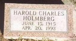 HOLMBERG, HAROLD CHARLES - Woodbury County, Iowa   HAROLD CHARLES HOLMBERG