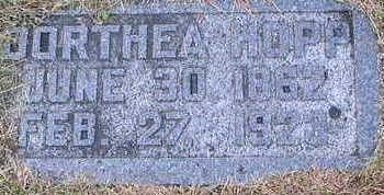 HOPP, DORTHEA - Woodbury County, Iowa | DORTHEA HOPP