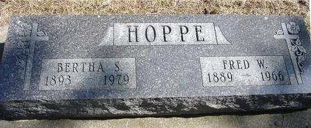 HOPPE, FRED W. & BERTHA S. - Woodbury County, Iowa | FRED W. & BERTHA S. HOPPE