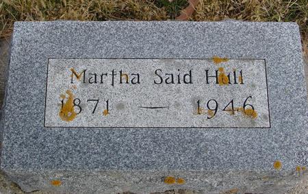 SAID HULL, MARTHA - Woodbury County, Iowa | MARTHA SAID HULL