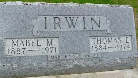 IRWIN, THOMAS & MABEL - Woodbury County, Iowa | THOMAS & MABEL IRWIN