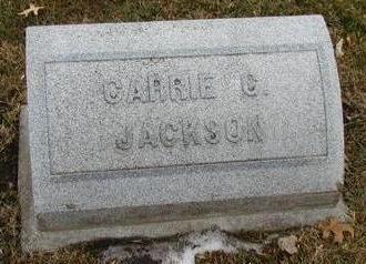 JACKSON, CARRIE CAROLINE - Woodbury County, Iowa   CARRIE CAROLINE JACKSON