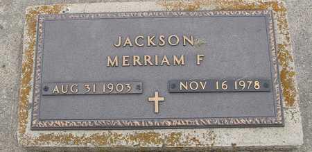 JACKSON, MERRIAM F. - Woodbury County, Iowa | MERRIAM F. JACKSON