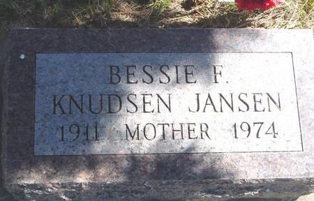 KNUDSEN JANSEN, BESSIE F. - Woodbury County, Iowa | BESSIE F. KNUDSEN JANSEN