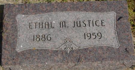 JUSTICE, ETHAL M. - Woodbury County, Iowa | ETHAL M. JUSTICE