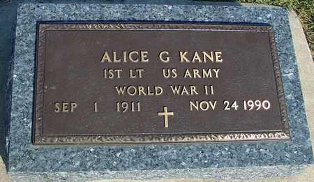 KANE, ALICE G. - Woodbury County, Iowa | ALICE G. KANE