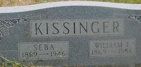 KISSINGER, WILLIAM & SEBA - Woodbury County, Iowa   WILLIAM & SEBA KISSINGER