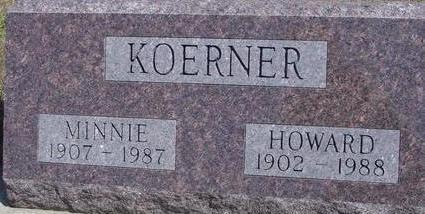 KOERNER, HOWARD & MINNIE - Woodbury County, Iowa   HOWARD & MINNIE KOERNER