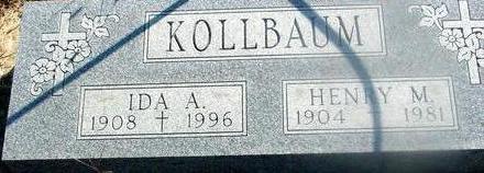 KOLLBAUM, HENRY M. & IDA - Woodbury County, Iowa   HENRY M. & IDA KOLLBAUM