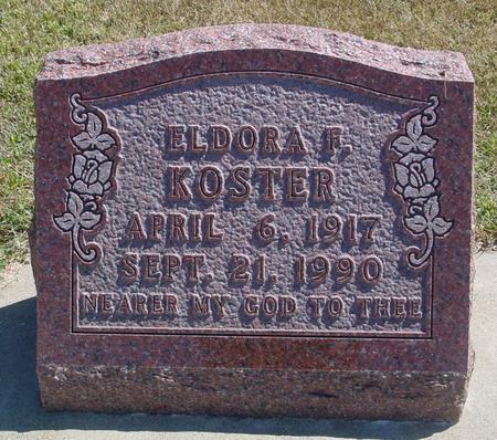 KOSTER, ELDORA F. - Woodbury County, Iowa | ELDORA F. KOSTER