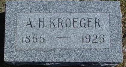 KROEGER, A. H. - Woodbury County, Iowa | A. H. KROEGER